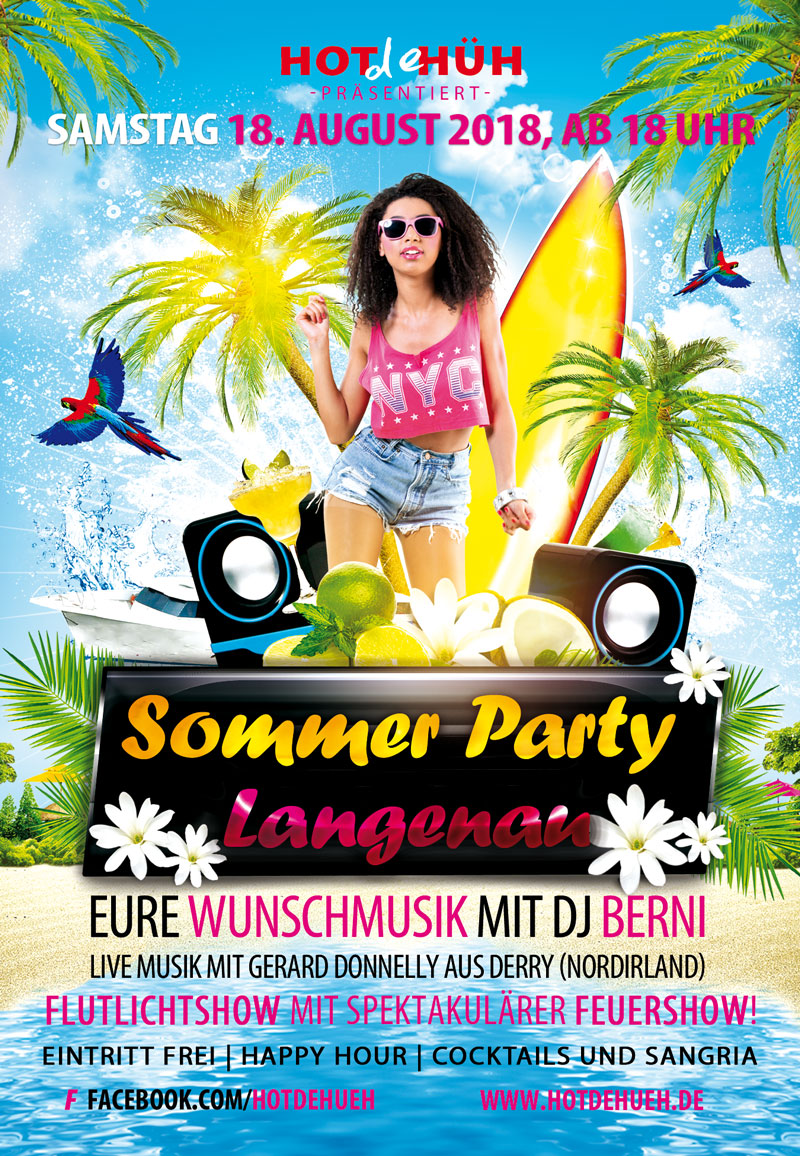 Sommer Party Flyer 2018