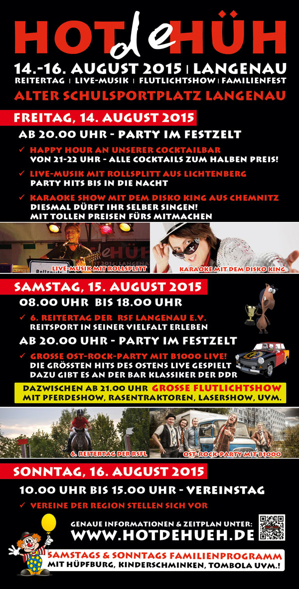 HOT de HÜH Flyer 2015 Rückseite